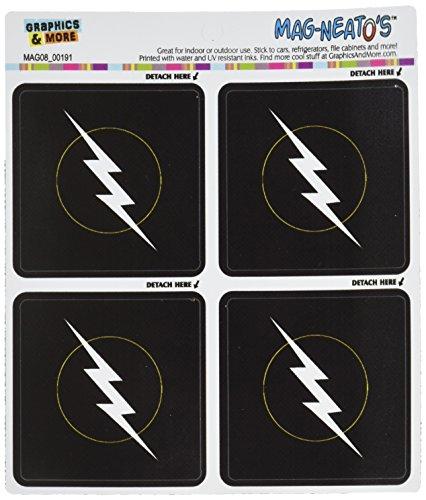 Graphics and More Lightning Bolt Mag-Neato's Automotive Car Refrigerator Locker Vinyl Magnet (Mag Bolt)