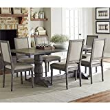 Progressive International Complete Dining Table in Dove Gray