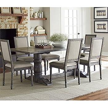 Progressive Muses Trestle Dining Table In Dove Gray