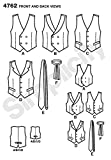 Simplicity 4762 Vest and Tie Sewing Pattern for Men