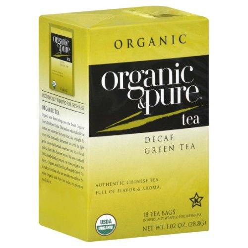 Organic Pure Green Tea - Organic & Pure Decaf Green Tea, 18-count (Pack of6)