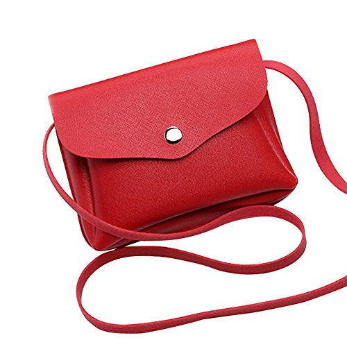 Coin Phone Leather Women HCFKJ Red Bag Handbag Fashion Messenger Crossbody Shoulder 5q8w0fCx0n