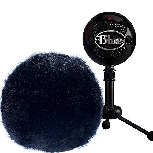 Professional Microphone Furry Windscreen Muff Windscreen Wind Cover Windshield for Blue ()