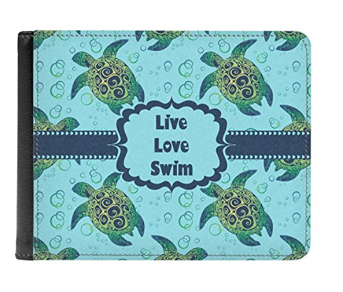 fold Genuine Bi Wallet Sea Personalized Men's Turtles Sea Leather Turtles 0qwtZ6Pn