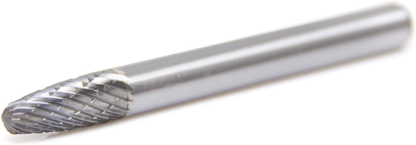 SF-1 Tree Shape Round Nose Premium Double Cut Tungsten Carbide Burr
