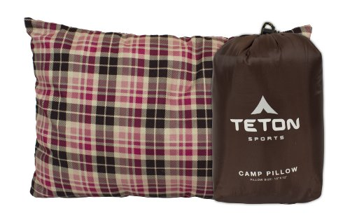 TETON Sports Camp Pillow Perfect for Anytime You Travel; Camping, Backpacking, Airplanes, and Road Trips; Comfortable Pillow for Neck and Lumbar Support; You Can Take It Anywhere; Washable Pillow