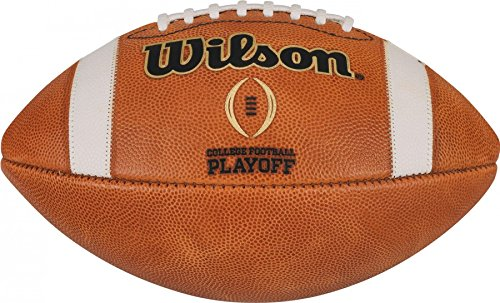 (Wilson NCAA College Football Playoffs CFP Official Leather Game Football)