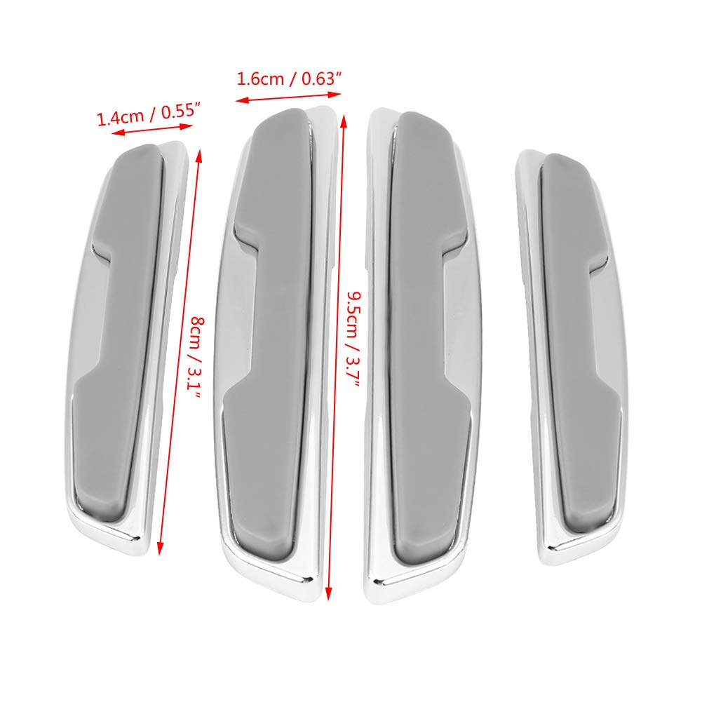 black KIMISS ABS 4Pcs Universal Car Door Side Protector Bumper Strips Guards Stickers Anti-Collision Bar