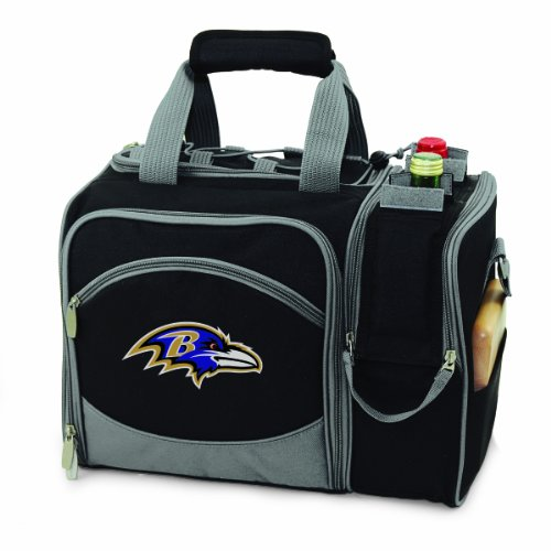 - PICNIC TIME NFL Baltimore Ravens Malibu Insulated Shoulder Pack with Deluxe Picnic Service for Two