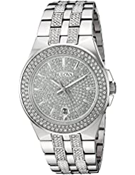 Bulova Mens 96B235 Swarovski Crystal Stainless Steel Watch