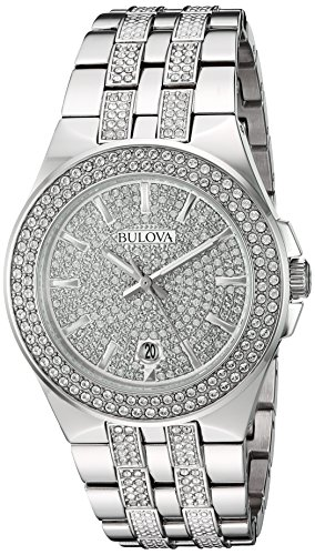 Bulova-Mens-Quartz-Stainless-Steel-Casual-Watch-ColorSilver-Toned-Model-96B235