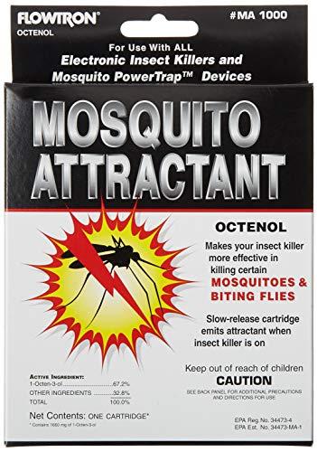 - Flowtron MA-1000 Octenol Mosquito Attractant Cartridge