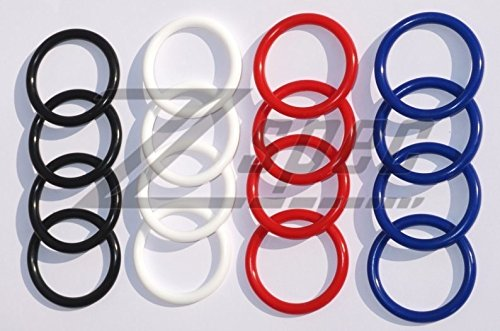 Quick Release Bumper Kit - Replacement Bands, White Silicone, Three Pairs