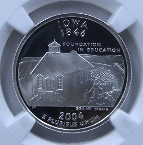 2004 S Silver 25C Iowa State Ultra Cameo Quarter PF-69 NGC