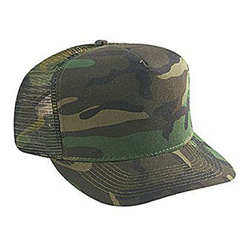 - Otto Caps Camouflage Cotton Twill Five Panel Low Crown Golf Style Mesh Back Cap