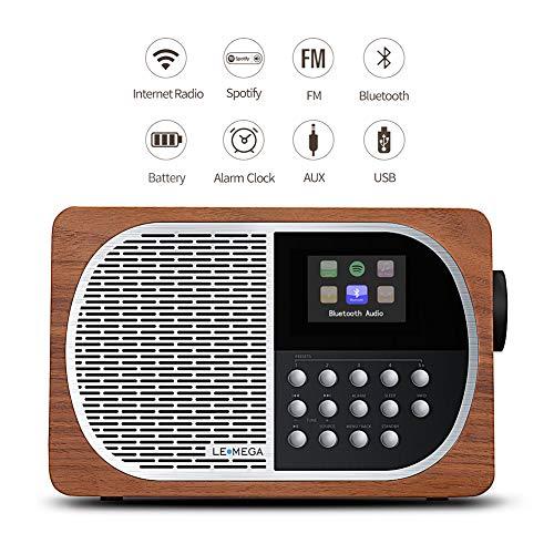 LEMEGA M2+ Table Smart Radio Wi-Fi, Internet Radio, Spotify,