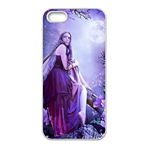 Diy Beautiful Fairy Phone Case for iphone 5s White Shell Phone JFLIFE(TM) [Pattern-4]