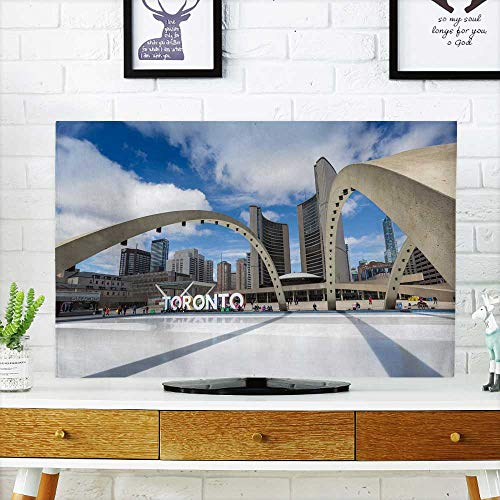 (Analisahome tv dust Cover Toronto City Hand Nathan Phillips Square Dust Resistant Television Protector W25 x H45 INCH/TV 47
