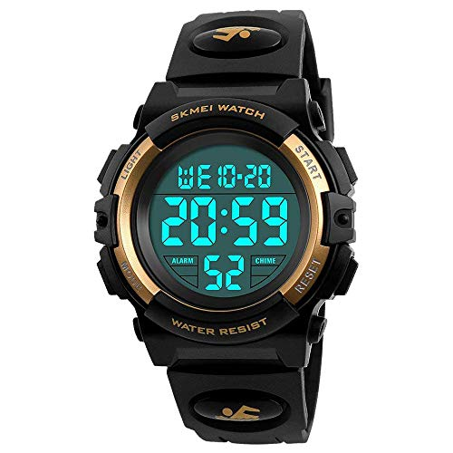 My-My Best 6-12 Years Old Boys Gifts, Electronic Sports Watch for Boy Girls Kids Watches Boys Waterproof Cool Toys for 6-12 Year Old Boys Great Birthday Present Yellow MMXBS03 -