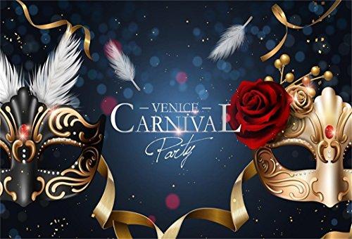 AOFOTO 7x5ft Venice Carnival Mask Party Backdrop Retro Luxury Venetian Masquerade Celebration Photography Background Gorgeous Dress Ball Classic Aristocratic Costume Contest Prom Banner Studio Props ()