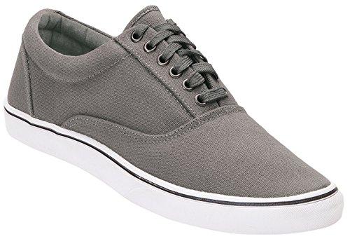 Brandit Sneaker Bayside grau mit weißer Sohle
