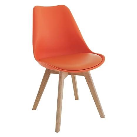 D & S Tulip sedia plastica legno retro sedie bianco nero grigio ...