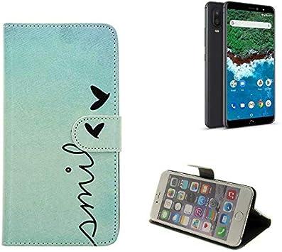 K-S-Trade 360° Funda Smartphone para BQ Aquaris X2 Pro, Smile ...