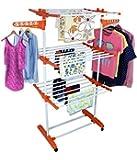 Saimani 3 Tier Mild Steel Cloth Drying Stand Jumbo Orange Color