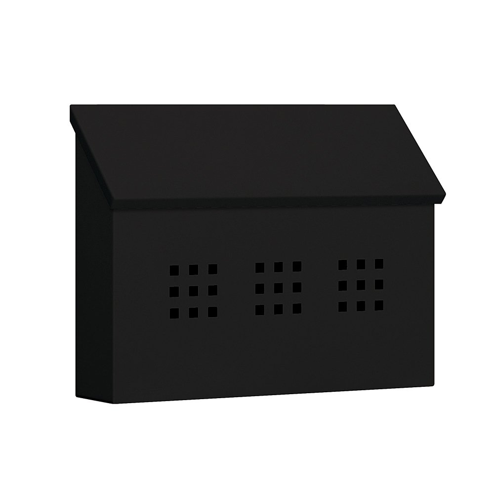 Salsbury Industries 4615BLK Traditional Mailbox, Decorative, Horizontal Style, Black