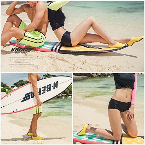 JustOneStyle NBERA Barfuß Flexible Wasserhaut Schuhe Aqua Socken für Beach Swim Surf Yoga Übung Pop_gelb