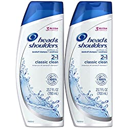 Head and Shoulders Classic Clean 2-in-1 Dandruff Shampoo and Conditioner Twin Pack, 2 Count