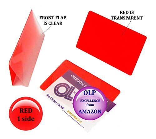 Oregon Lamination Hot Laminating Pouches IBM Card (pack of 500) 10 mil 2-5/16 x 3-1/4 Red/Clear by Oregon Lamination Premium