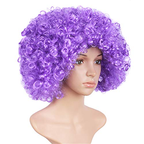 yaning Short Kinky Curly Afro Wig Heat Resistant Wigs for Women Black Red Nautral Cosplay Costume Wig Party Synthetic -