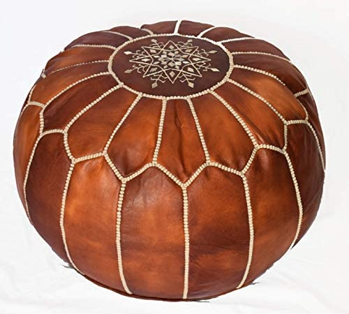 bohemiamarrakech Pouf Brown Moroccan Leather Pouf