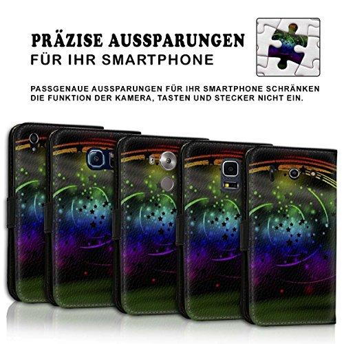 Wallet Book Style Flip Handy Tasche Case Schutz Hülle Schale Motiv Etui für Apple iPhone 4 / 4S - Design Flip MV224