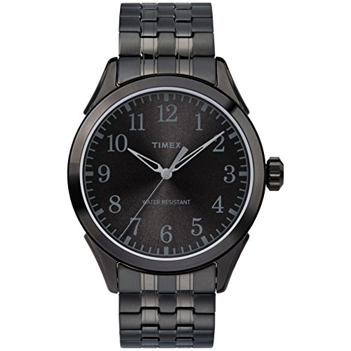 (Timex Men's TW2R48200 Briarwood Black Stainless Steel Expansion Band Watch)