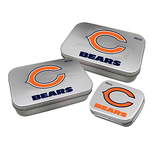 Worthy Promotional NFL Chicago Bears Decorative Mint Tin 3-Pack with Sugar-Free Mini Peppermint Candies