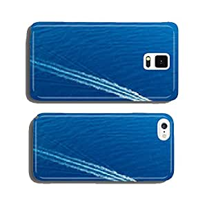 Boat surf foam aerial from prop wash in blue sea cell phone cover case iPhone6