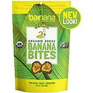 Organic Original Chewy Banana Bites - 3.5 Ounce (3 Count) - Delicious Barnana Potassium Rich Banana Snacks - Lunch Dinner Sports Hiking Natural Snack - Whole 30, Paleo, Vegan