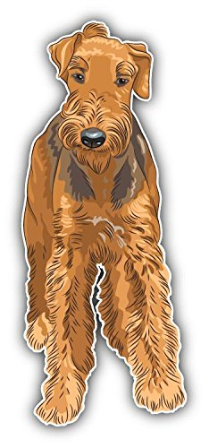 - Airedale Terrier Dog Vinyl Decal Bumper Sticker 3'' X 6''