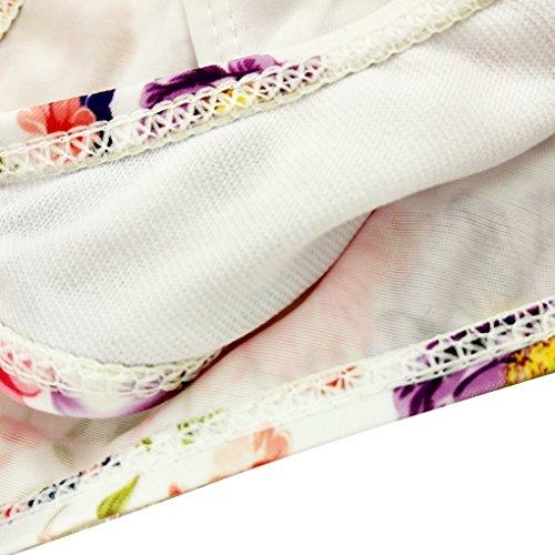Befaith Mujeres traje de baño bikini floral dos piezas con sujetador acolchado cómodo elástico