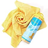 3D Chamois Hair Drying Towel, For Fast, Safe & Frizz-free Drying,...