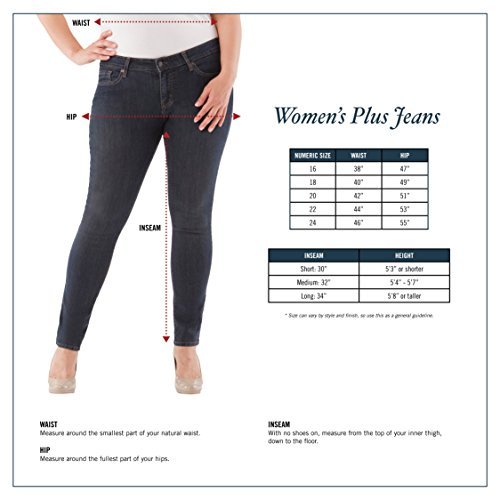 Signature by Levi Strauss & Co. Gold Label Women's Plus Size Totally Shaping Pull on Bootcut Jeans, in The Groove