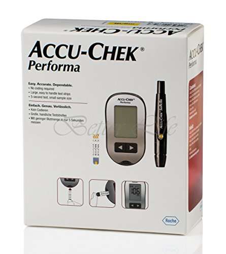 amazon com accu chek performa blood glucose meter and lancing