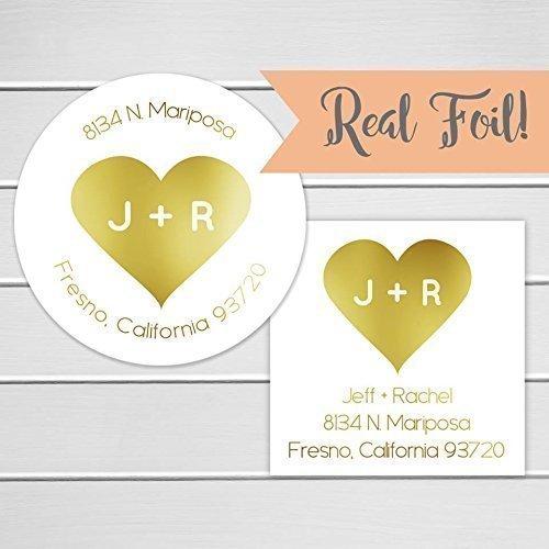 amazon com wedding return address stickers gold foil return