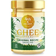 Original Grass-Fed Ghee Butter by 4th & Heart, 9 Ounce, Keto, Pasture Raised, Non-GMO, Lactose Free, Certified Paleo