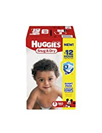 HUGGIES Snug & Dry Diapers, Size 3, 180 Count (Packaging May Vary) BOBEBE Online Baby Store From New York to Miami and Los Angeles