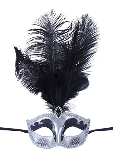 [Masquerade Mask Fancy Feather Party Mask Halloween Costumes] (Halloween Costumes With Mask)