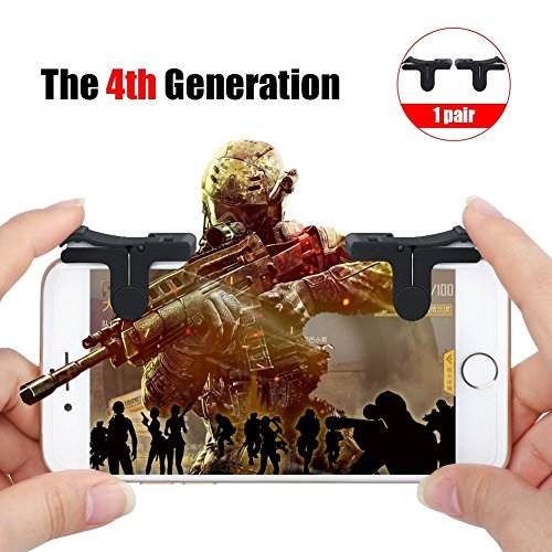 Mobile Game Controller, Sensitive Shoot and Aim Buttons for PUBG/Fortnite/Knives Out/Rules of Survival, Phone Game Joystick, Touch Screen Rocker for Android/IOS (Buttons) by Heptagram