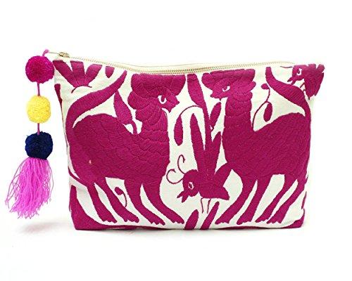 Fuchsia Oversized Clutch Handbag by Erica Maree